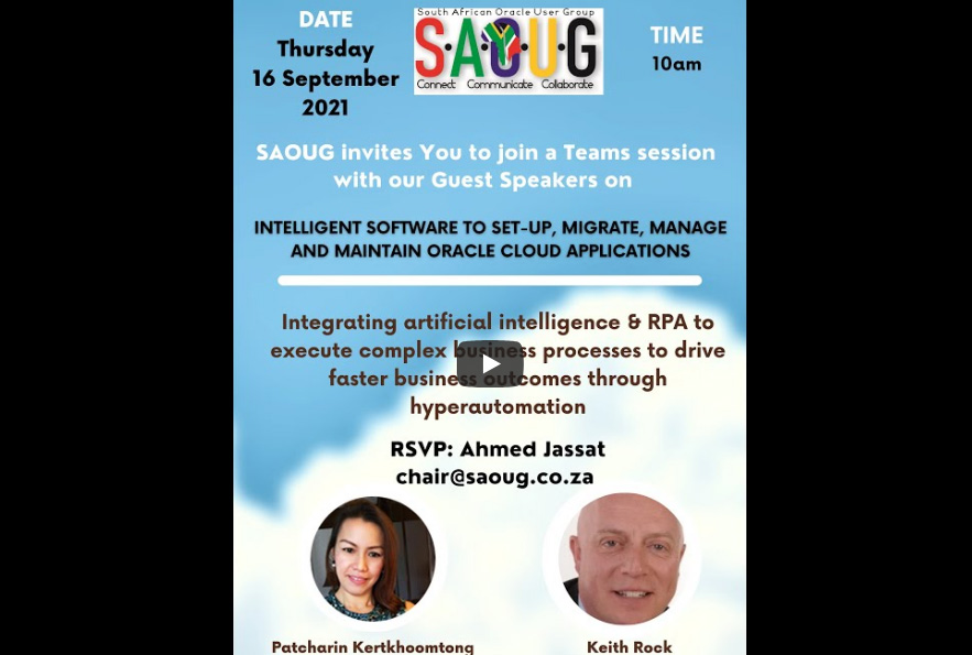 Intelligent Software to Set-Up, Migrate, Manage and Maintain Oracle Cloud Applications by SAOUG